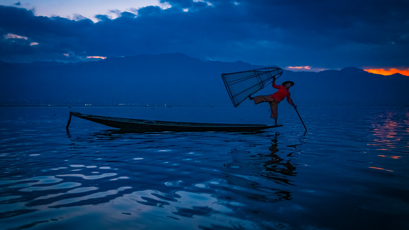 On Inle Lake, Myanmar, 2018