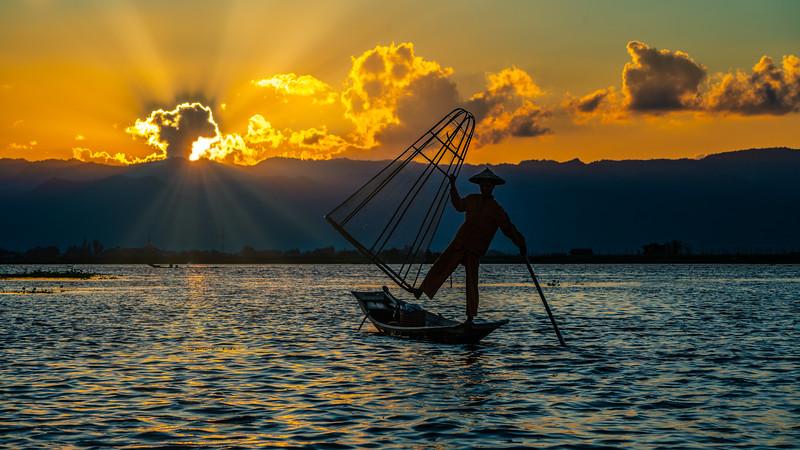 On Inle Lake, Myanmar, 2018