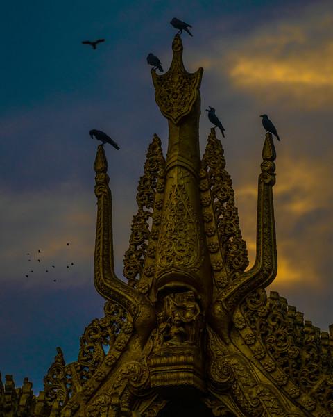Karaweik Palace, Kandawgyi Lake, Yangon, Myanmar, December 2018