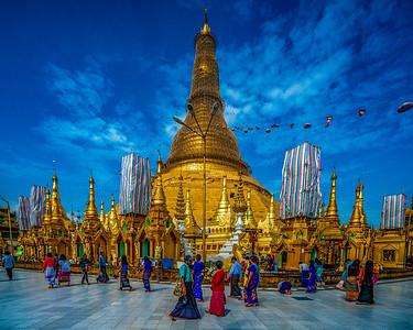 Shwedagon Pagaoda, Yangon, Myanmar, December 2018