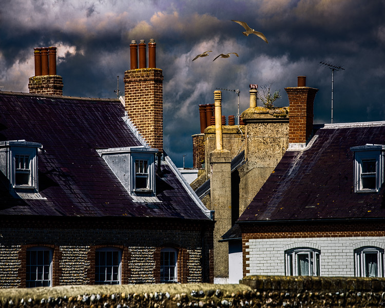Seaside Rooftops, Windows and Chimneys