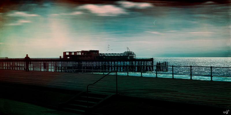 Dawn on the Promenade at Hastings