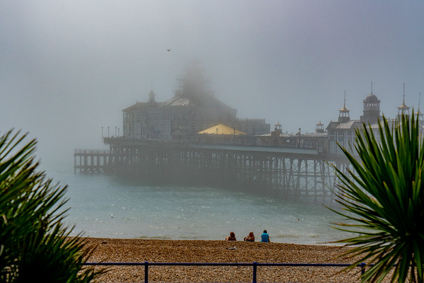 Eastbourne Pier and Beach In Mist