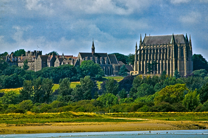Lancing College by the River Adur near Shoreham-by-Sea, Sussex