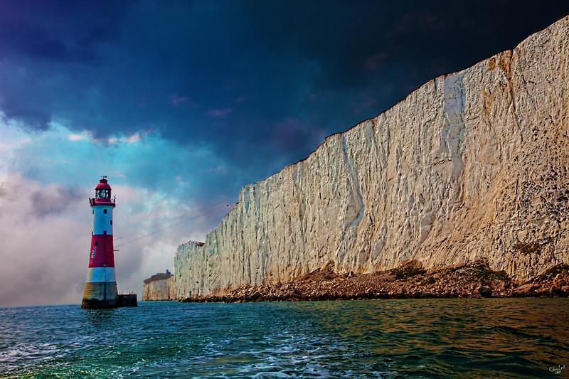 The Lighthouse At Beachy Head, Eastbourne