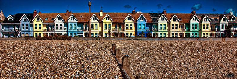 Row Houses Near The Beach At Worthing