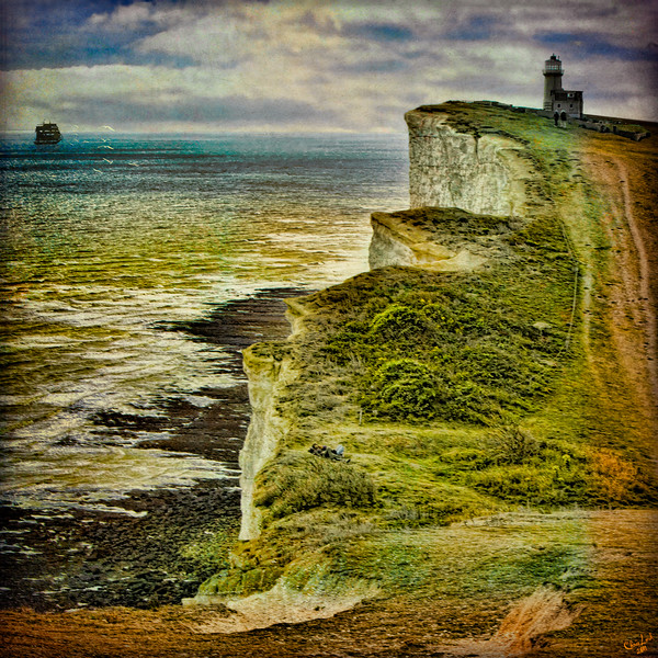 Lovers On The Cliff Top Path