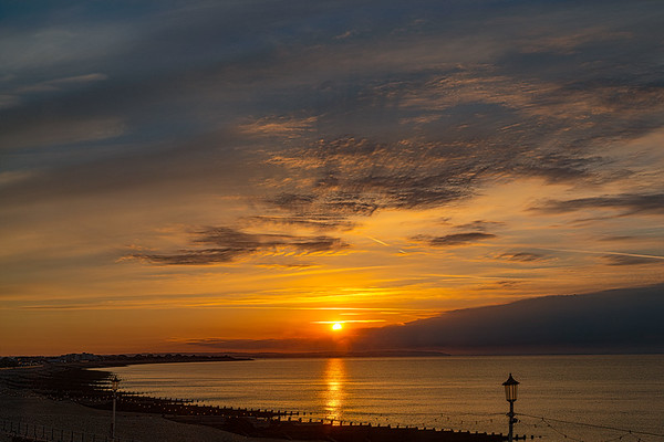 Sunrise On The Seafront In Eastbourne