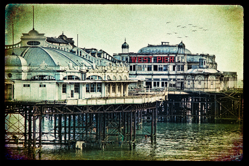 "The West Pier at Brighton Before it was Destroyed by Fire.<br /> An ""oldie but goodie"" from my 35 mm slide collection."