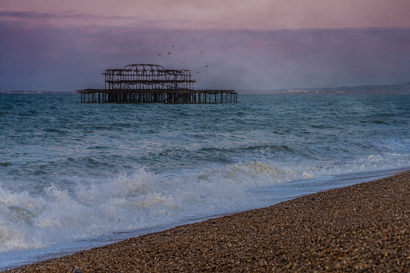 Dawn At The West Pier Ruins
