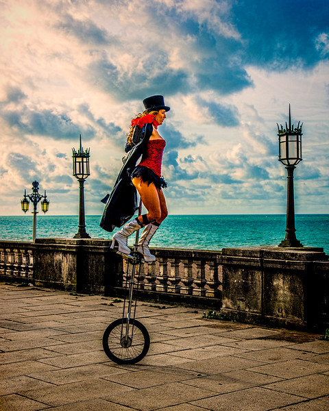 Unicycling In Brighton