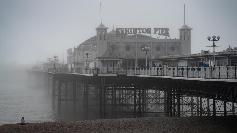 Palace Pier In Mist