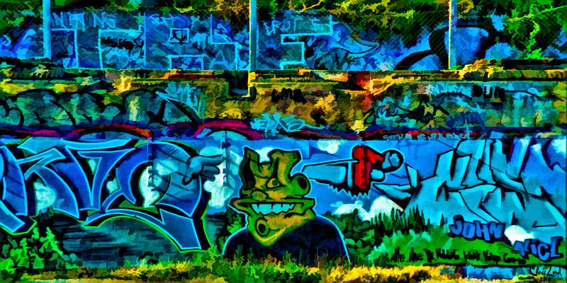 Graffiti At Black Rock, Brighton