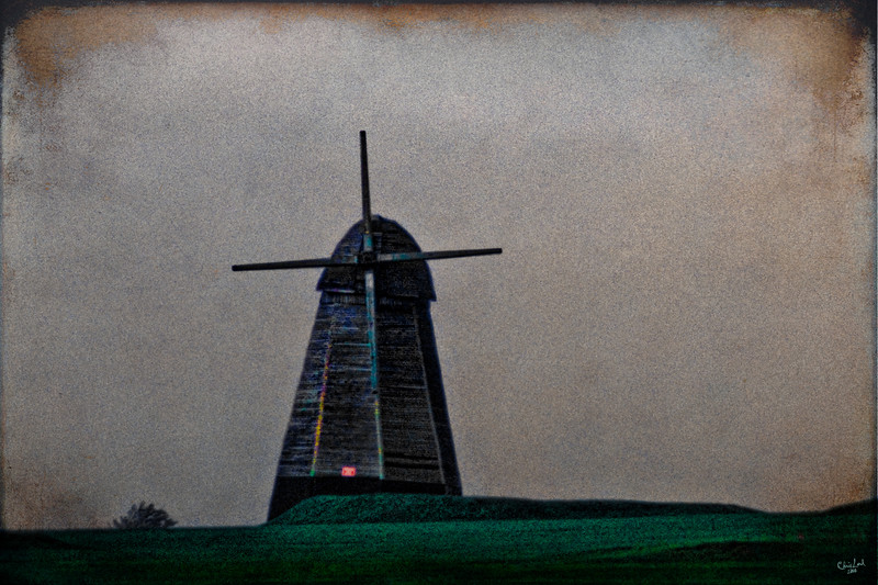"The Famous Windmill at Rottingdean.<br /> An ""oldie but goodie"" from my 35 mm slide collection."