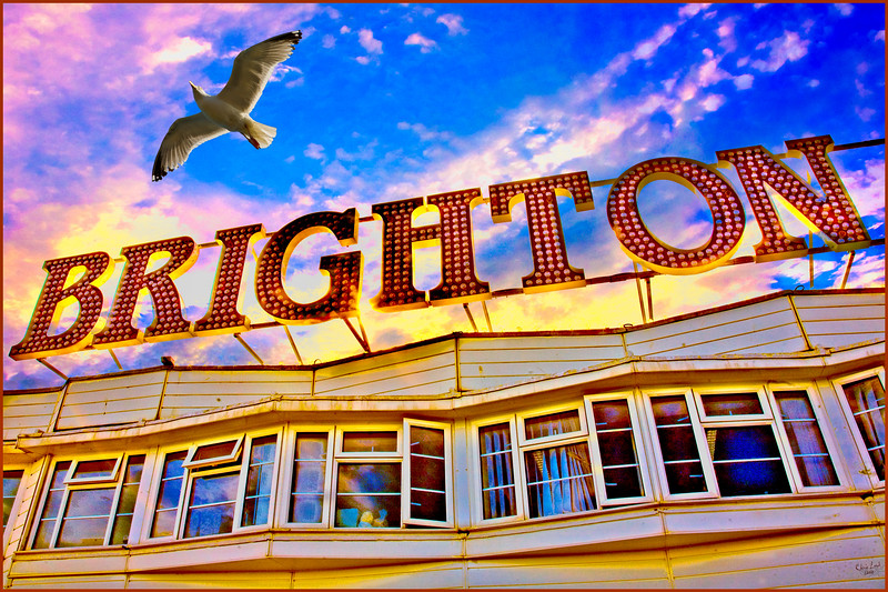 Brighton Sign On The Pier