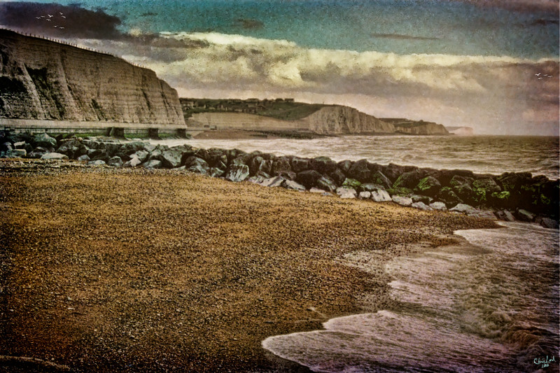 """The Beach & Cliffs near Rottingdean<br /> An """"oldie but goodie"""" from my 35 mm slide collection."""