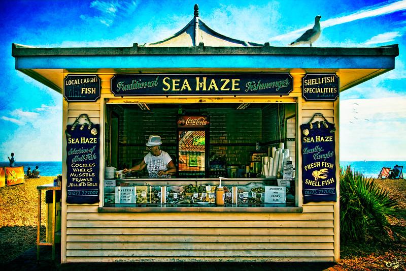Sea Haze, a Seafood Kiosk on the Beach at Brighton