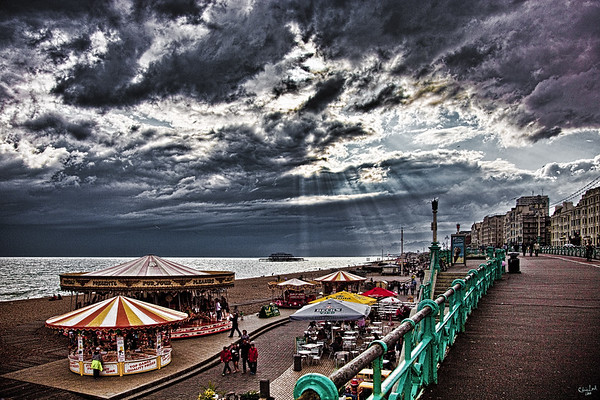 Brighton Seafront, Weather Changeable!