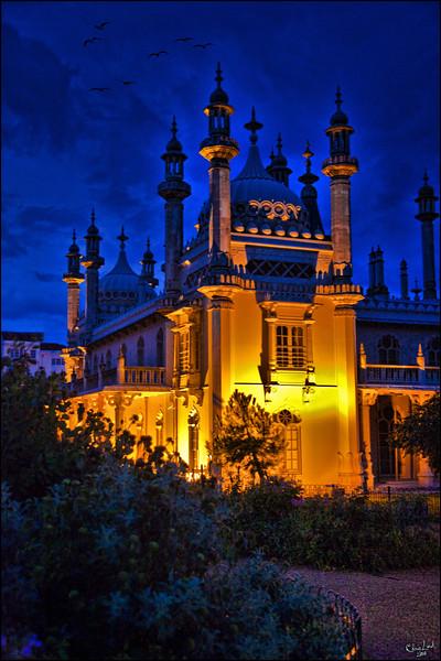 The Pavilion At Night