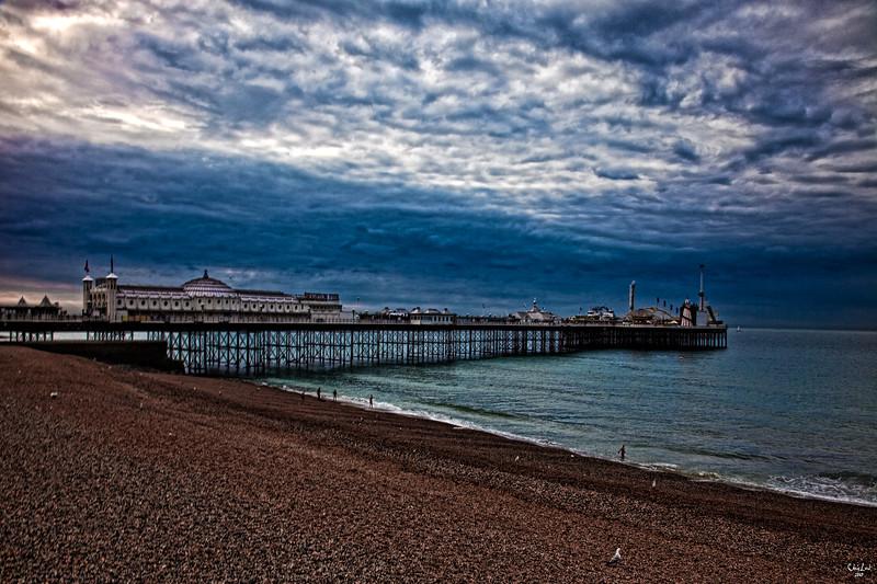 Brighton Pier at 7 am