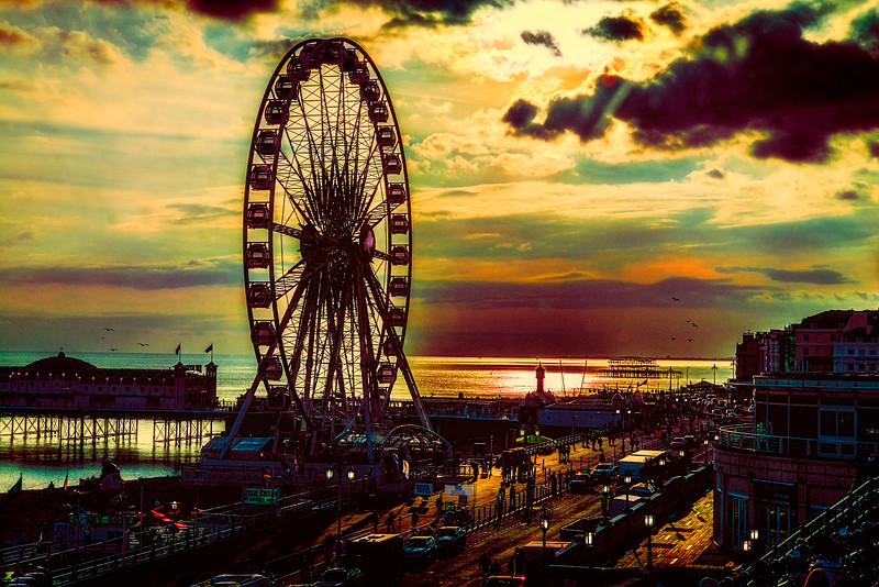 The Brighton Wheel At Sunset