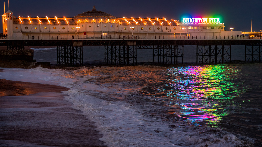 Palace Pier At Night