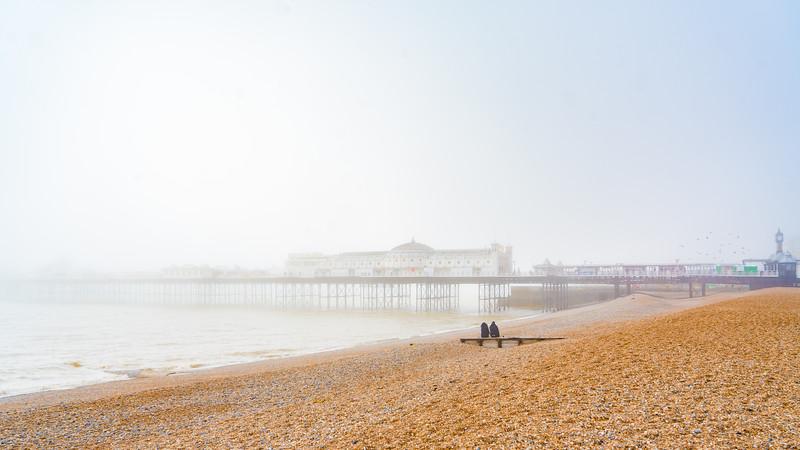 The Brighton Pier in Fog
