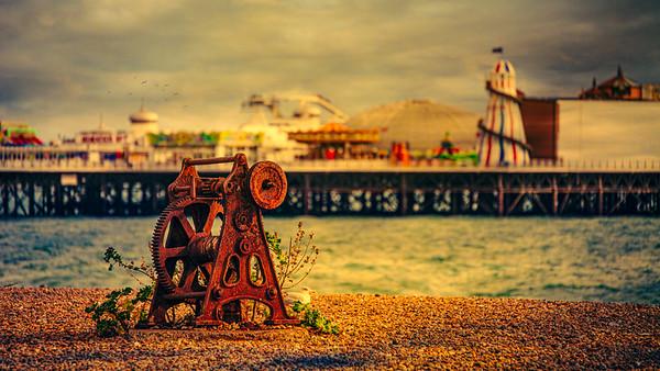 Beach Capstan And Pier
