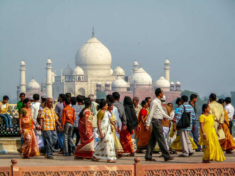 Indians and their Taj Mahal, Agra, India