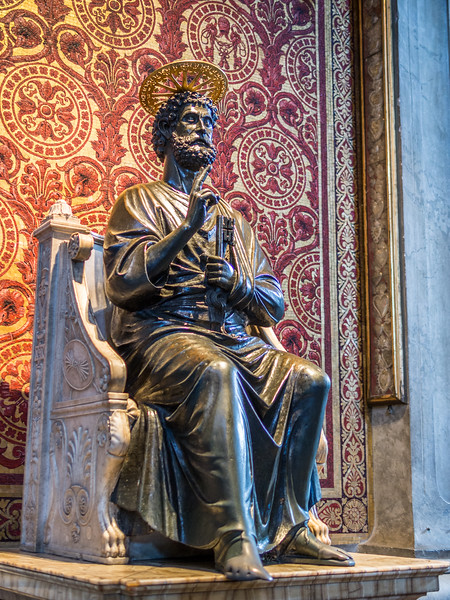 Ancient Statue of St. Peter, Vatican City