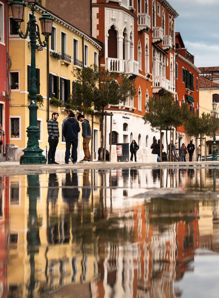 Reflections in the Street, Venice