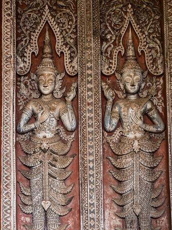 Door Relief, Haw Pha Kaew, Vientiane