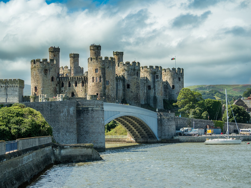 Approaching Conwy Castle, Wales