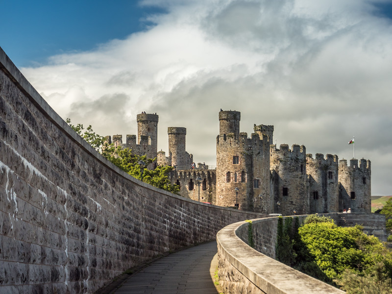 Rampway and the Castle, Conwy, Wales
