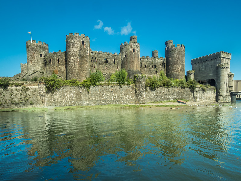 Conwy Castle Reflected in the Bay, Wales