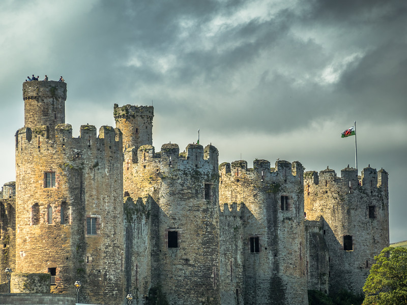 Towers of Conwy Castle, Wales