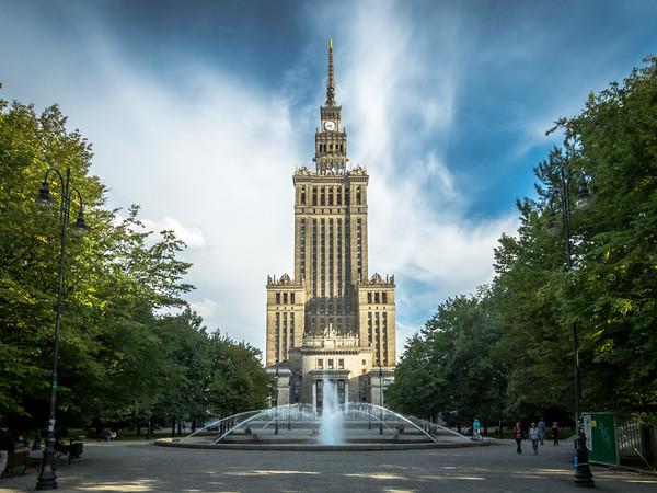 Pałac Kultury i Nauki in Afternoon, Warsaw, Poland
