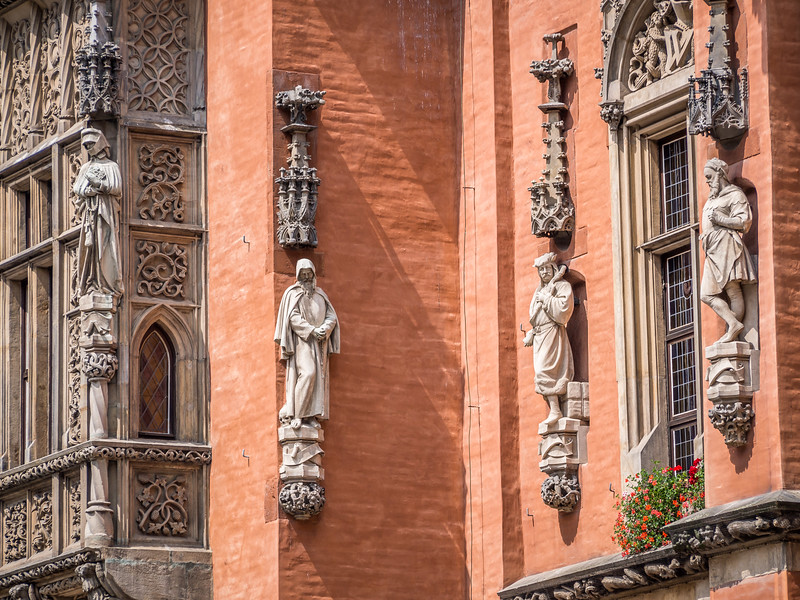 Town Hall Figures, Wrocław, Poland