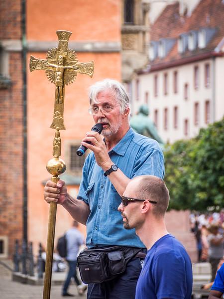 Preacher on Rynek Square, Wrocław