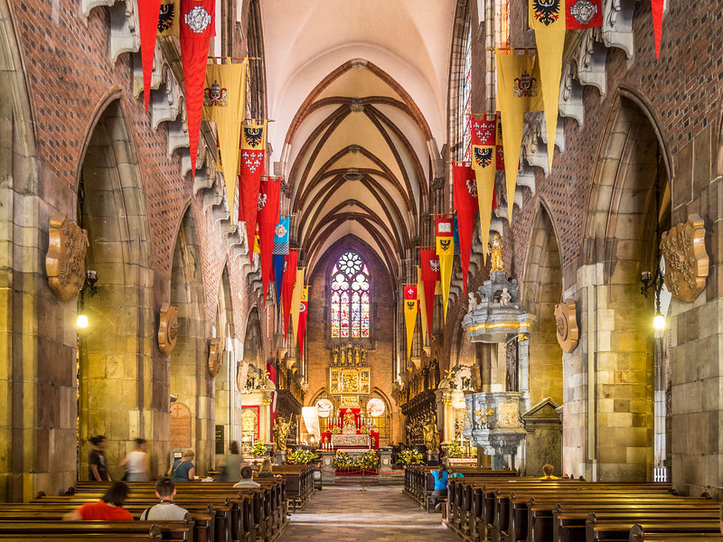 Inside the Wrocław Cathedral