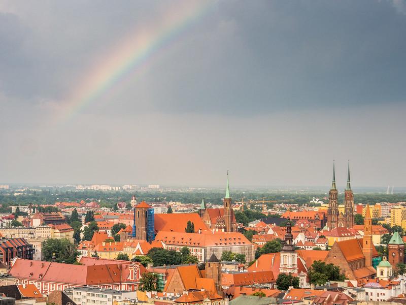 Rainbow over Wrocław, Poland