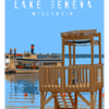 Riviera Beach Lifeguard Stand  $135 -  16x24 (Lake Geneva WI)