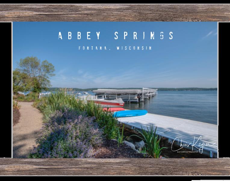 Abbey Springs Waterfront   $45 - 12x8 (Abbey Springs, Fontana WI)