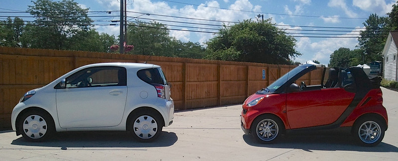 smart Cabrio and Toyota iQ
