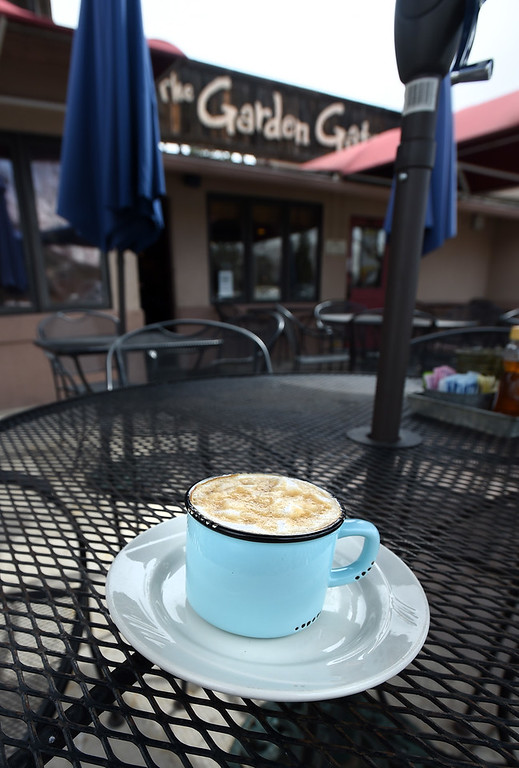 . The cappuccino at the Garden Gate Cafe in Niwot.  Cliff Grassmick / Staff Photographer/ April 4, 2018
