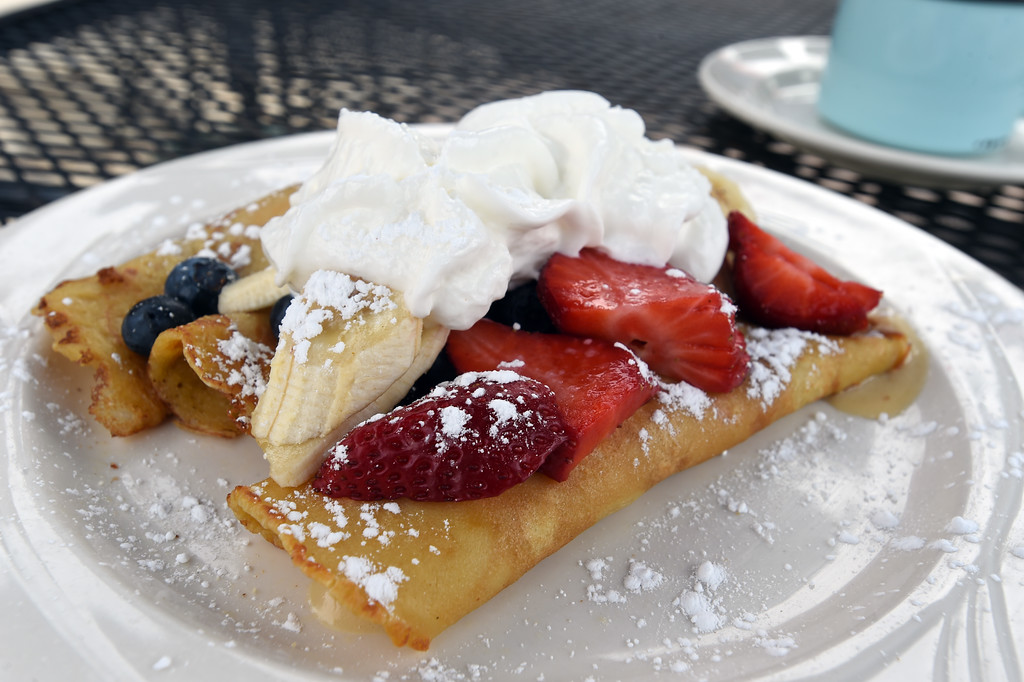 . Fruit crepes at the Garden Gate Cafe in Niwot.  Cliff Grassmick / Staff Photographer/ April 4, 2018