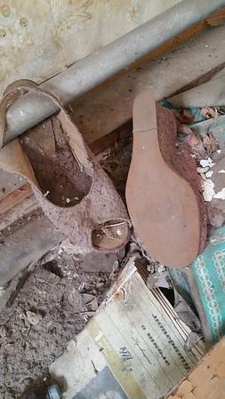 Little worn shoes.
