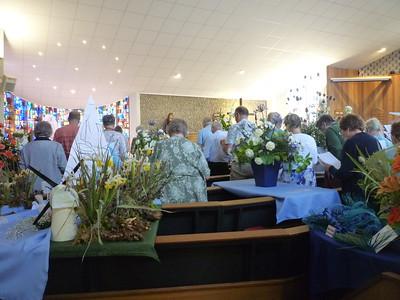 Worship among the flowers