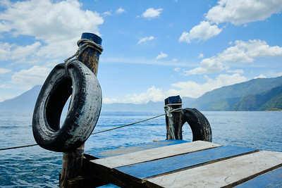 The boat piers at Lake Atitlán