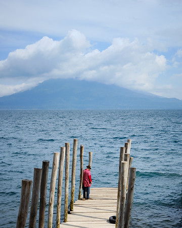 Waiting for the ferry in Jaibalito, Lake Atitlán, Guatemala
